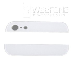 Iphone 5G - Bottom e Top back glass Branco