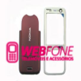 Capa Nokia N73 Vermelho e Branco