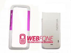 Capa Nokia 5310 Branco e Rosa