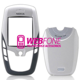Capa Nokia 6600 Branco e Preto