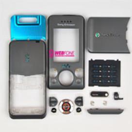 Capa Sony Ericsson W580 Cinza Escuro
