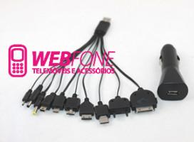 Carregador USB e Isqueiro 10 em 1