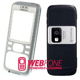 Capa Nokia 6234 Cinza e Preto