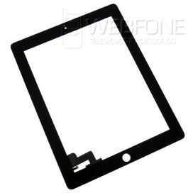 Ipad 2 - Front Glass Digitizer com 3M Adhesive Preto