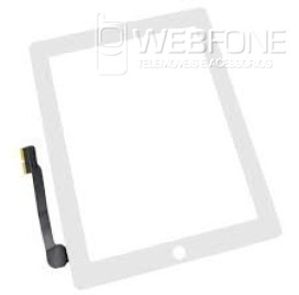 Ipad 4 - Front Glass Digitizer com 3M Adhesive Branco