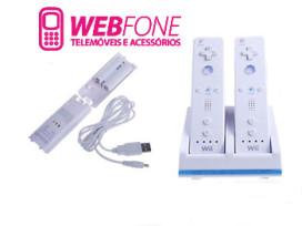 Carregador Duplo Wii + 2 Baterias Branco