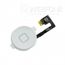 Iphone 4G - Bot�o Home flex cabo + bot�o Home OEM Branco