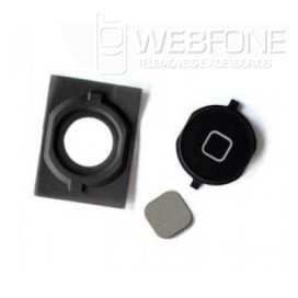 Iphone 4S - Plastico bot�o Home com rubber Preto