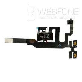 Flex Auscultador e Jack 3.5mm Iphone 4s Preta