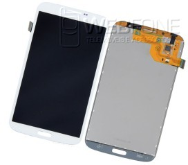 Full Front LCD + Front Glass Digitizer Mega I9200 Branco
