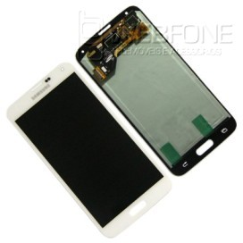 Full Front LCD Digitizer S5 G900F Branco