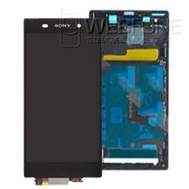 LCD Digitalizador completo com frame Sony Xperia Z1 L39h Preto