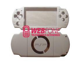 Capa Completa PSP 2000 + Kit Bot�es Branco