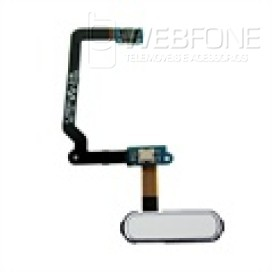 Samsung S5 - Bot�o Home flex cabo OEM Branca