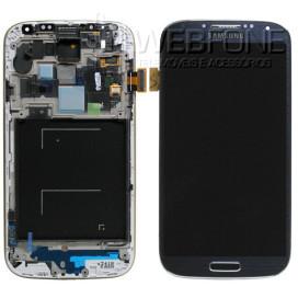 Full Front LCD Digitizer com frame S4 I-9505 Blue