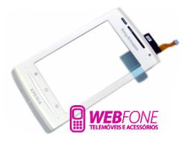 Capa Sony Ericsson X8 Xperia Branco + Touch