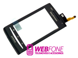 Capa Sony Ericsson X8  Xperia  Preto + Touch