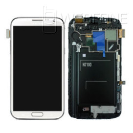 Full Front LCD + Front Glass Digitizer com Frame Samsung Note 2