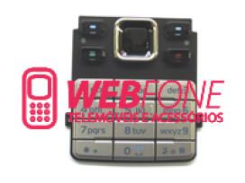 Teclado Nokia 6300 Cinza e Preto