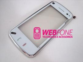 Touchscreen Nokia N97+ Capa Frontal Branco