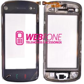 Touchscreen Nokia N97+ Capa Frontal Preto