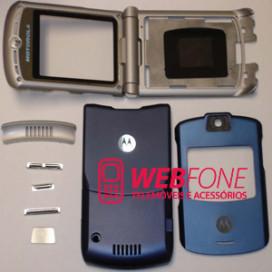 Capa Motorola V3 Azul Completa