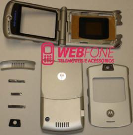 Capa Motorola V3 Cinza Completa